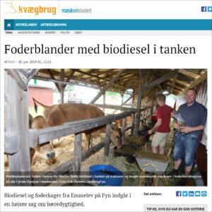 Foderblander med biodiesel i tanken